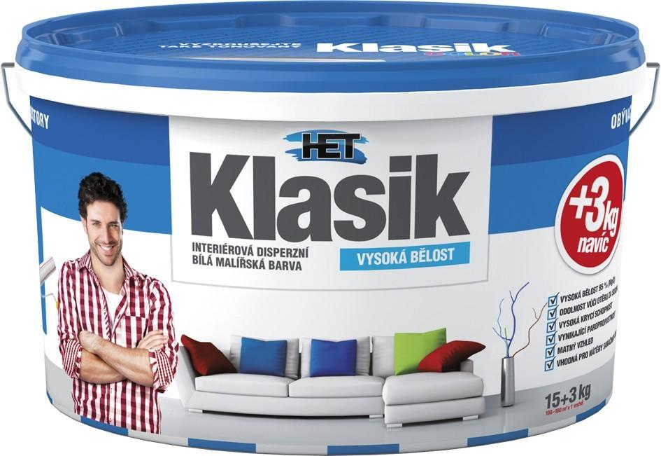 Bílá interiérová disperzní barva HET Klasik 15+3kg